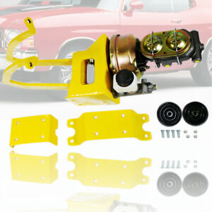 Power Clutch Pedal Assembly Kit Brake Booster Master Cylinder Universal Yellow