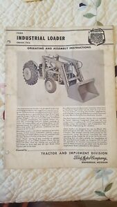 Ford Tractor Implement Industrial Loader Series 703 Owners Manual 1958