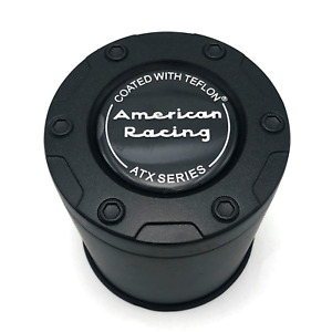 American Racing Atx Series Teflon Black Push Thru 4 25 Center Cap 5x5 5 6x5 5