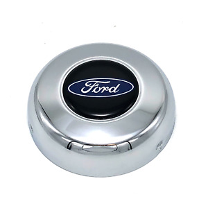 Horn Button Ford Oval Logo Steel Chrome 3 Grant Classic Challenger Series Wheel