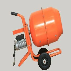 Techtongda Hand Push Electric Concrete Mixer Heavy Cement Blender 110v 60hz 140l