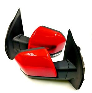 Painted Race Red For 15 18 Ford F150 Power heated led Signal Side Mirror 8 pin