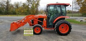 2017 Kubota L3560 Compact Loader Tractor W cab 151 Hours Warranty Very Nice