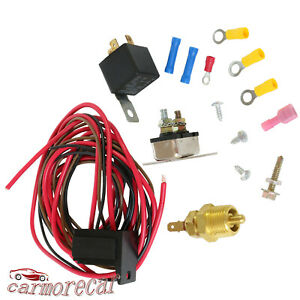 3 8 427 454 Engine Fan Electric Radiator Thermostat Temperature Switch Relay Kit