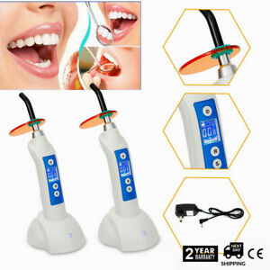 2pcs Rechargeable Light Curing Unit 5w Dental Led Curing Light Lamp 1500mw White