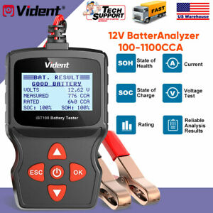12v Car Battery Tester Auto Digital Vehicle Analyzer 100 1100cca Vident Ibt100