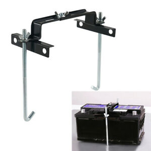 Adjustable Car Battery Holder Down Storage Tray Stabilizer Bracket Crossbar Rack