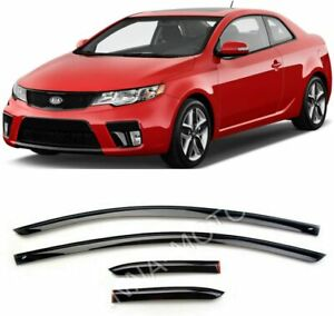 For Kia Cerato Koup 2009 2012 Window Side Visors Sun Rain Guard Vent Deflectors