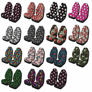 Skull Fashion Car Front Seat Covers For Women Girls Auto Interior Seat Protector