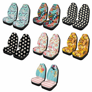 Women Fashion Driver Car Seat Cover 2 Pcs Elastic Front Seat Protector Washable