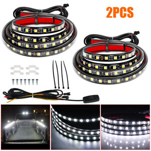 60 Truck Bed Led Strip Light Waterproof Lighting Bar Switch Fuse Cable For Suv
