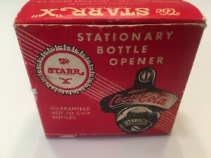 Vintage STARR X COCA-COLA Wall Mount Bottle Opener #27 Brown Co Made USA