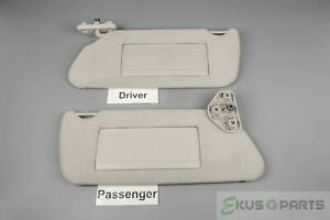 2006 2010 Hummer H3 Oem Sun Visor Set With Covered Mirrors And Extend Panels