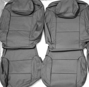 2016 2018 Chevrolet Silverado Lt Crew Cab Grey Leather Upholstery Seat Cover Set
