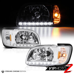For 2001 2002 2003 2004 Toyota Tacoma Chrome Led Corner Signal Headlights Lamp