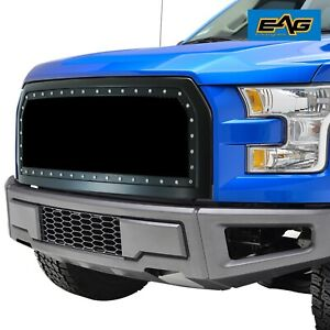 Eag Replacement Mesh Grille Upper Black Grill Fit 2015 2017 Ford F 150