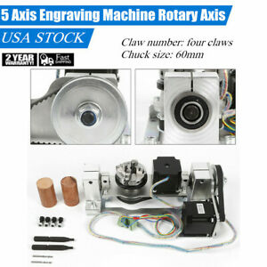 Rotary Axis 4 Axis 5th Axis A B Axis For Cnc Router Cnc Engraving Machine
