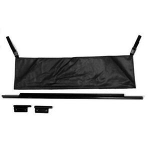 Rampage 87 06 Soft Top Rear Window Tailgate Bar Black 77015 For Jeep Wrangler
