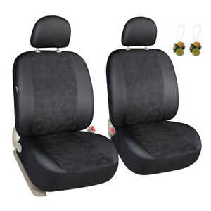 Black Seat Covers For Cars Suv Trucks Universal Fit Two Front Low Back Covers