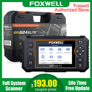 Foxwell Nt624 Elite All System Scanner Obd2 Car Code Reader Abs Srs Oil Epb Tool
