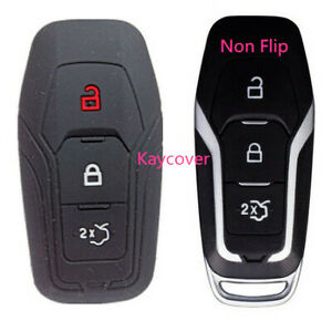 Black Key Cover For Ford Mustang Escape Explorer F150 Fusion Fiesta Mondeo