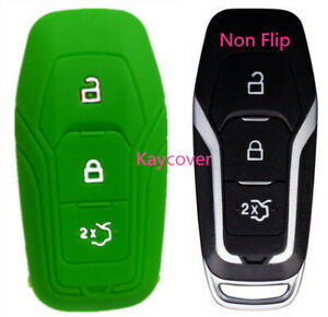 Green Key Cover For Ford Mustang Escape Explorer F150 Fusion Fiesta Mondeo