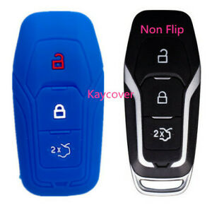 Blue Key Cover For Ford Mustang Escape Explorer F150 Fusion Fiesta Mondeo