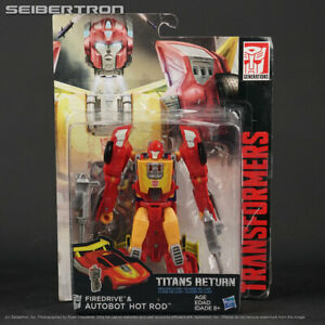 HOT ROD + FIREDRIVE Transformers Titans Return Generations Deluxe Hasbro 191101a $19.99