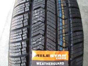 2 New 205 60r16 Milestar Weatherguard Tires 2056016 60 16 R16 All Season Winter