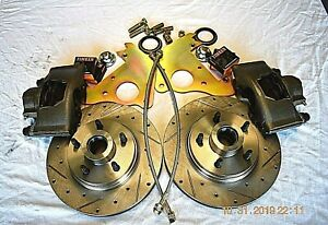1954 1955 1956 Ford Fairlane victoria wagon Front Disc Brakes Cross Drill Rotors