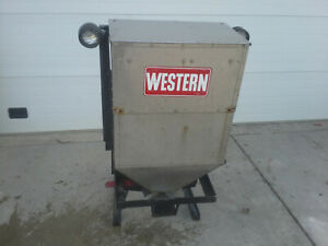 Western Commercial All Stainless Hitch Mount Tailgate Salt Spreader Nice