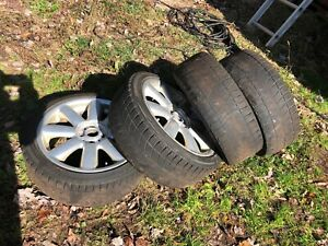 2013 Mini Cooper Clubman S 17 Inch Rims Wheels Guc 4 Worn Blizzak Tires
