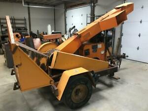 2010 Midsouth 4msd12 Drum Wood Chipper With 4 Cylinder Gas Engine