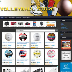Volleyball Store Complete Advance Website For Sale Amazon adsense dropship