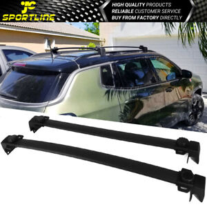 Fits 17 20 Jeep Compass Oe Factory Style Roof Rack Cross Bar Aluminum Black