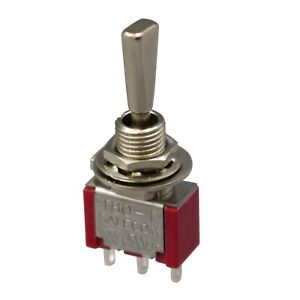 2pcs Sh Flat Handle T8014 uhbq On off on Maintained 3pin Spdt Mini Toggle Switch