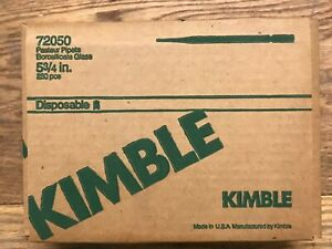 Kimble 72050 575 5 3 4 Disposable Pasteur Pipets Borosilicate Glass 250 box