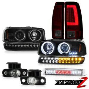 99 02 Sierra 2500 Taillamps Roof Brake Lamp Bumper Fog Lights Ccfl Headlamps Led