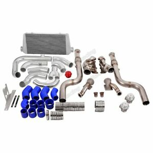 Cx Twin Turbo Bottom Mount Header Intercooler Kit For 2015 Ford Mustang Gt 5 0