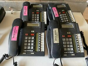 Set Of 4 Nortel Networks T7208 Nt8b26aabl Charcoal Office Business Phones Used