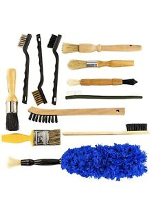 Pro grade Auto Detailing Brush Kit 12 Pack Ultra Value Set For Interior And Ex