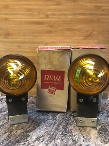Vintage Napa Visall Amber 43a 12 Flexible Marker Lights
