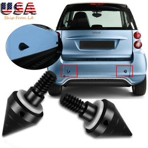 Black Rear Bumper Protector Spikes Guards Protectors For Smart Fortwo 2007 2015