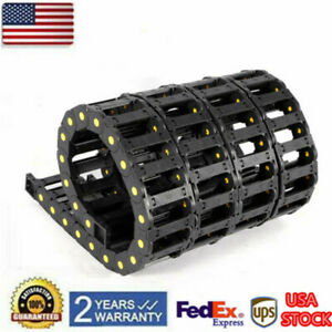 4x Reinforced Nylon Open Cable Wire Carrier Drag Chain 25x77mm For Cnc Router Us