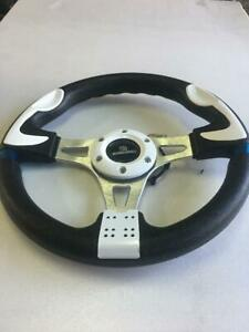 Car Racing Steering Wheel Include Ms Mazdaspeed Horn Button 320mm White