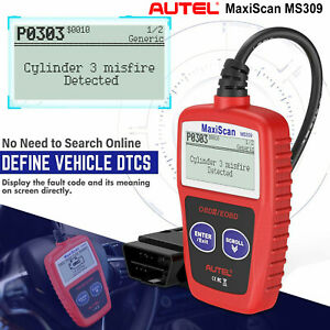 Autel Maxiscan Ms309 Obd2 Check Engine Car Diagnostic Tools Code Reader Scanners