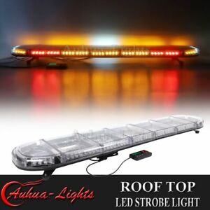 60 Amber Led Emergency Warning W Brake Turn Alley Lights Roof Strobe Light Bar