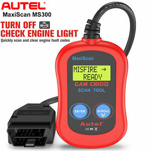Autel Ms300 Maxiscan Obd2 Car Diagnostic Scan Tool Auto Fault Code Reader Engine