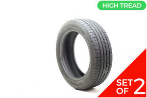 Set Of 2 Used 215 55r18 Michelin Defender T H 95h 8 5 9 32