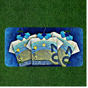 Custom Personalized License Plate Auto Tag With Euro Money Shirts Design